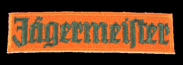 Patch orange lettering