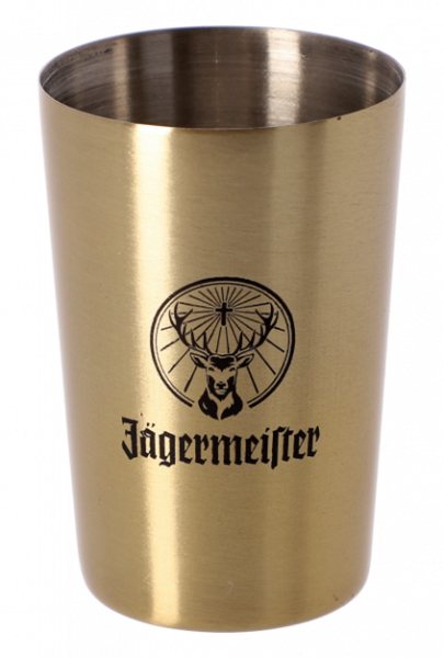 Edelstahlbecher, gold