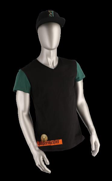 T-Shirt, schwarz-grün