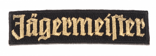 Patch golden lettering